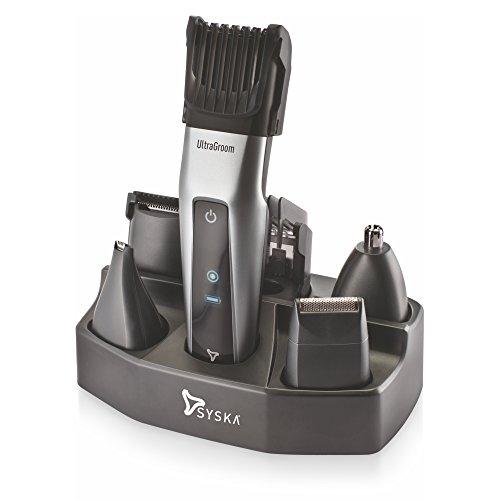 Syska HT3052K Grooming Kit (Black/Silver)