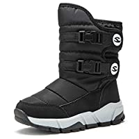 Kids Snow Boots Boys Girls Winter Fur Lined Children Boots Waterproof Outdoor Non-Slip Cosy Casual Warm Shoes