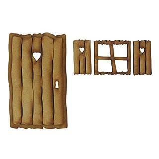 Rustikal Log Cabin Fairy Tür. dreidimensionale Selbstmontage Kit Fairy Tür Craft Holz mit Fairy Fenster & Rollladen
