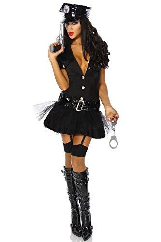Polizisten-Kostüm - schwarz