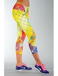 NESSI® Damen ¾ LEGGINGS (Laufen Radfahren Fitness Atmungsaktiv)