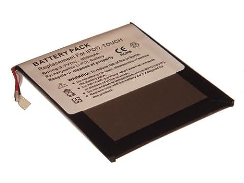 vhbw Li-Polymer Akku 950mAh (3.7V) für MP3-Player Musik Player Apple IPod Touch 1, 1G, 1. Generation, MA623LL/B, MA627LL/B wie 616-0341, (Apple Video Ipod Touch 8 Gb)
