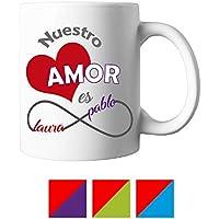 Taza Personalizada/Regalo San Valentín/Pareja/Enamorados/Hombre/Mujer/Chico/Chica/Novia/Novio/Aniversario/Cumpleaños