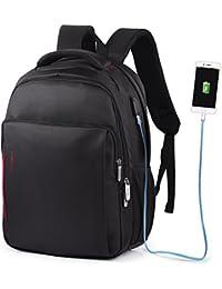 """Vbiger impermeable Anti-robo Mochila de carga USB para portátiles de hasta 14"""""""