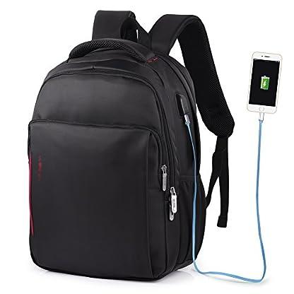 """41lrbP7TjJL. SS416  - VBIGER Impermeable Mochila Portatil con Puerto USB para Estudiantes Negocios Viajes,14"""" 15.6"""""""