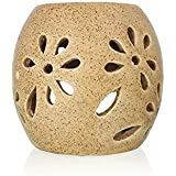 Farkraft Handcrafted Aroma Diffuser With Tealight Candle ( Without Oil, Beige )