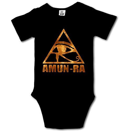 HUDS VIFV Egyptian Amun Ra Ancient Egypt Eye of Horus Baby Unisex Short-Sleeve Onesies Bodysuits