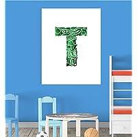 Alphabet T Nursery Children Educational Early Learning Poster Print Wall Art V2 preiswert