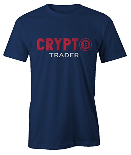 RiotBunny Crypto Trader Bitcoin Blockchain Cryptocurrency BTC Ltc Digital Currency T-Shirt Herren Marineblau X-Large (Mom Adult T-shirt)
