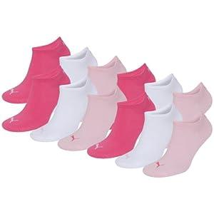 PUMA Unisex Sneakers Socken Sportsocken 12er Pack pink lady 422 - 35/38