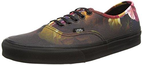 Vans U Authentic Lo Pro Scarpe Sportive, Unisex Adulto Black (Ombre Floral - Black/Black)