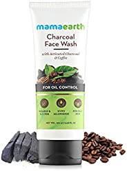Mamaearth Charcoal Natural Face Wash for oil control and pollution defence 100 ml - For Oily Skin - SLS &