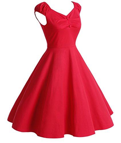 Bbonlinedress modèle 9 Vintage rétro Audrey Hepburn robe de soirée cocktail années 50 forme princesse Black