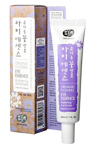 Eye Essence (WHAMISA Organic Flowers Eye Essence - Korean Skin Care Augencreme gegen Falten und Augenringe Serum mit Adenosin - Koreanische Kosmetik Cream Sanft Fermentiert - 40ml)