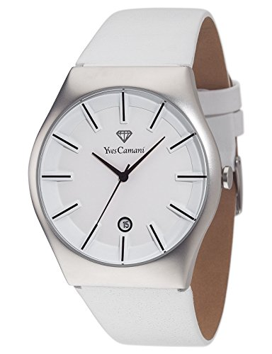 Yves Camani Loann - Reloj para hombre, color blanco