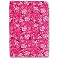 Baby Boum - Copri materassino per fasciatoio con angoli, in morbido velluto di cotone, completamente assorbente, fantasia floreale, colore: Rosa