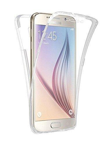 Preisvergleich Produktbild Connect Zone® Samsung Galaxy Klar Durchsichtig Ultradünn 360 grad Schützend Stoßfest Vorne und Hinten Ganzkörper TPU Silikon-Gel-hülle - Durchsichtig Transparent Gel, Samsung S7 Edge, Samsung J5