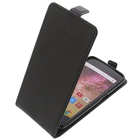 Étui pour Archos 50 Power Flipstyle Coque de protection Téléphone portable noir
