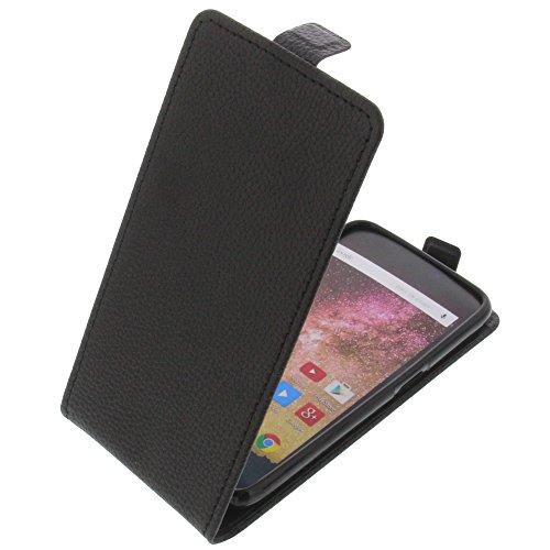 foto-kontor Tasche für Archos 50 Power Smartphone Flipstyle Schutz Hülle schwarz