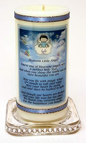 """Baby Boy oder Kind Gedicht-Kerze Karte """"Himmel Little Angel"""""""