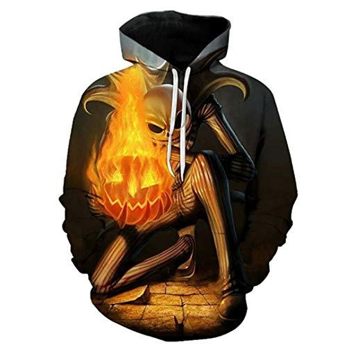 Imagen de b pertand sudaderas con capucha de hombre/mujer en 3d con gorro estampado de fuego monster invierno con capucha delgada suelta tops lmwy 356 xxl