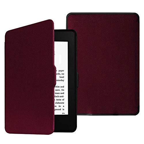 Fintie SlimShell Funda para Kindle Paperwhite - La Más Delgada y Ligera Carcasa de Cuero Sintético con Función de Auto-Reposo/Activación (No se Adapta a 10.ª generación 2018), Púrpura