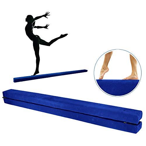 JNCH Balance Beam Balken Turnen für Zuhause Schwebebalken Gymnastikbalken Zusammenfaltbar Holz Kinder 220 * 10 * 6,5cm (Blau)