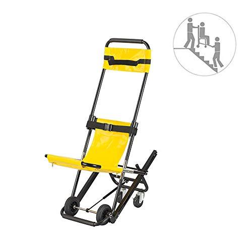 Treppenstuhl-Krankenwagen-Feuerwehrmann-Evakuierungs-Hebebühne Treppenstuhl-Leichte medizinische Mobilitätshilfe mit zwei Sicherheitsgurten,Yellow