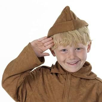 déguisement chapeau soldat garde marron pour enfant taille unique