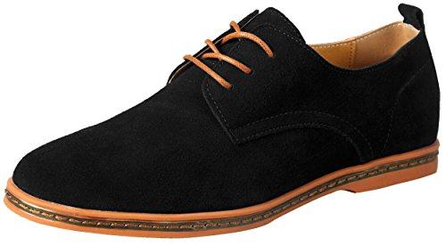 Schnürhalbschuhe Herren Schwarz 42 Komfort Tuxedo Smoking Schuhen Leder DE 42 Herstellergröße 265 - Formale Hochzeits-schwarzen Tuxedo-anzug