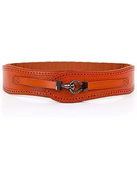 Cintura elástica de ancho de banda de la mujer cabeza de vaca capa sello cintura cinturón hueco
