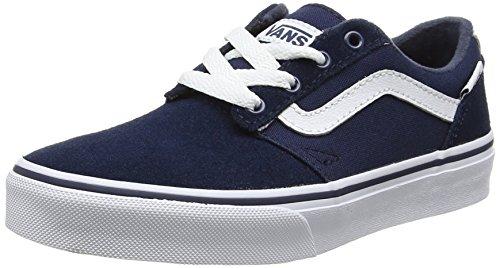 Vans Unisex-Kinder Chapman Stripe VA349SMIT Sneaker, Mehrfarbig (Blue 001), 38.5 EU - Old Navy Mädchen Waffel