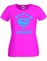 Parent: Camisetas divertidas super carmen - para mujer camiseta