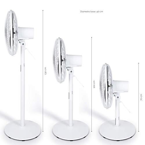 Midea fs40-18br stand fan 3 in 1 ventilatore 8 velocita' timer-pala 40 cm, plastica