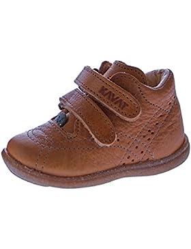 Kavat Myra Kinder Leder Lauflernschuhe Klettverschluss Halbschuhe Blau Orange Braun Baby Schuhe Jungen und Mädchen