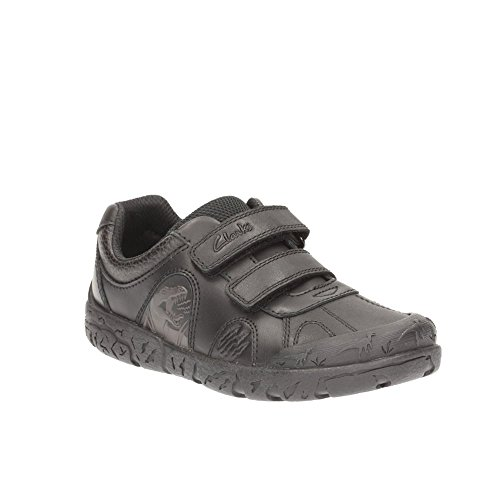 Clarks Bronto Step Infant Boys Black Leather School Shoe
