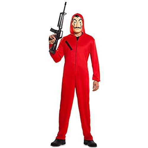 Kostüm Halloween Zu Hause - Hivia Haus des Geldes Kostüm Jumpsuit Cosplay für Erwachsene Kinder Body Suit Rot Anzug Halloween Overall+Maske