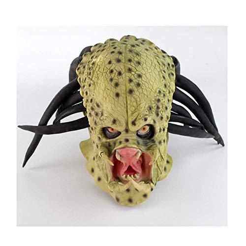 Kostüm Knochen Durch Kopf - Bnmgh Alien War Predator Latex Kopfbedeckung Maske Scary Kostüme Cosplay für Neuheit Zombie Haunted House Party Halloween Dekoration