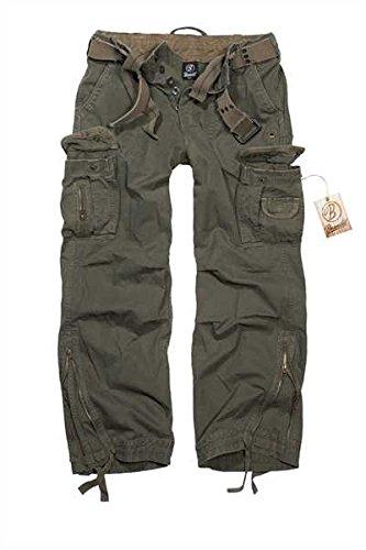 Brandit Royal Vintage Trousers Pantaloni tempo libero verde oliva