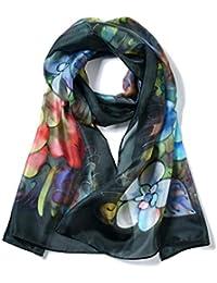 Invisible World Sciarpa da Donna in 100% Seta in Vari Colori 467dd97b469b