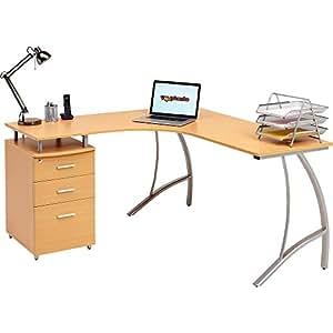 Genuine Piranha Regal Corner Computer Desk With 3 Drawers