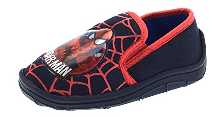 Childrens Superhero Kids Boys Ultimate Spiderman Slippers Mules Velcro Slip On Shoes Toddlers Size UK 4 - 2.5