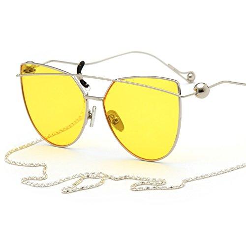 Xiao Mi Guo Ji Ball Design Gesicht Make-up Sonnenbrille Runde Gesicht Mode Sonnenbrillen Sonnenblende Polarisierte Brille (Farbe : 1)