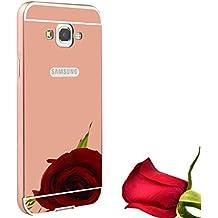 Funda Espejo Aluminio Metal Carcasa para Samsung Galaxy Grand Prime G530H G5308W Color Rosado