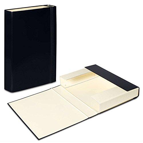 3x Schwarz–Vanille Dokumentenbox A4Ordner Elastic Band Aufbewahrung Dateien Kanzleipapier Papier Hartpappe Organizer Duo Farben