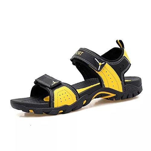 Sandali Sportivi Scarpe Donna Trekking Pelle Casual Spiaggia Escursionismo Outdoor Camminata Cuoio Traspiranti Estivi(Giallo,35/36 EU,23CM dal Tallone alla Punta