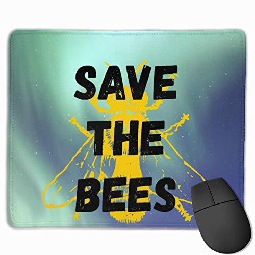 Luancrop Gaming Mouse Pad Honey Bee Speichern Sie die Bienen dekorative Mousepad Matte Rubber Base Home Decor für Computer Laptop Office Home