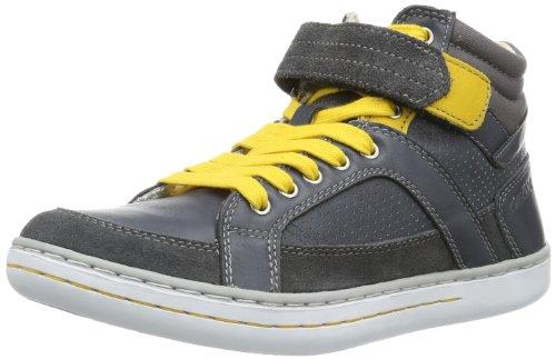 Geox Jr Garcia Boy F, Sneaker Bambino Grigio (DK Grey/Yellow C0070)