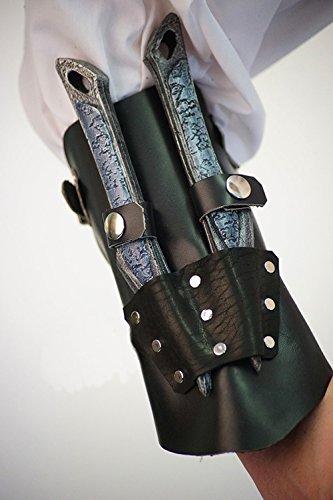 Mittelalter Larp SCA Heiden Steampunk Gotik Rollenspiel Festival Kampf bereit Leder ASSASSIN'S CREED STYLE VANBRACE / ARM (2 Cosplay Assassins Von Creed Kostüm)
