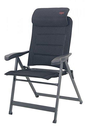Appui-tête rembourré amovible de camping-aluminium - 120 cm-dossier-léger en aluminium de 4,8 kg-chaise - 8 positions-sTABIELO exklusiv-fauteuil à dossier 120 cm-couleur : anthracite-charge max. : 120 kg-hOLLY sunshade contre supplément disponible avec hOLLY fÄCHERSCHIRMEN-hOLLY ® produits sTABIELO-innovation fabriqué en allemagne-repose-pieds-accessoires disponibles